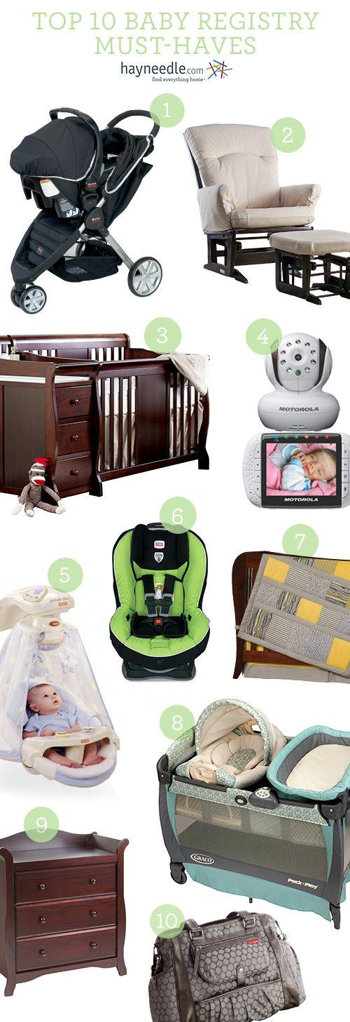 Top 10 Baby Registry Must-Haves