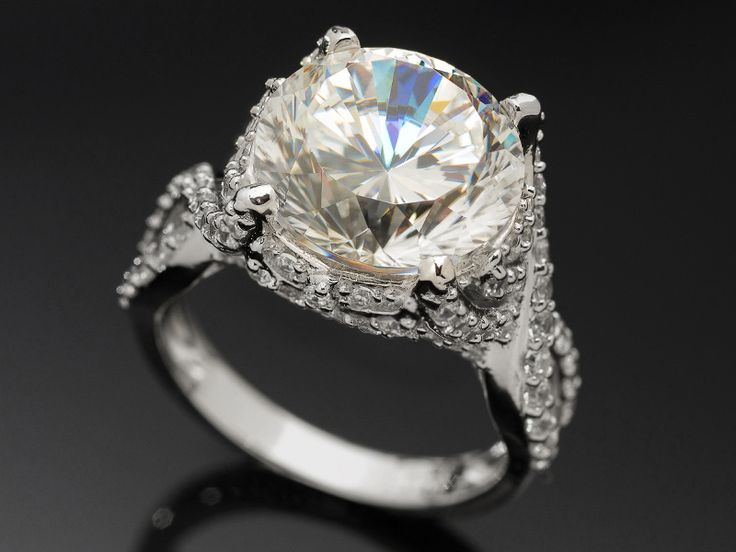 Bella Luce (R) Dillenium 12.80ctw Round Rhodium Plated Sterling Silver Ring