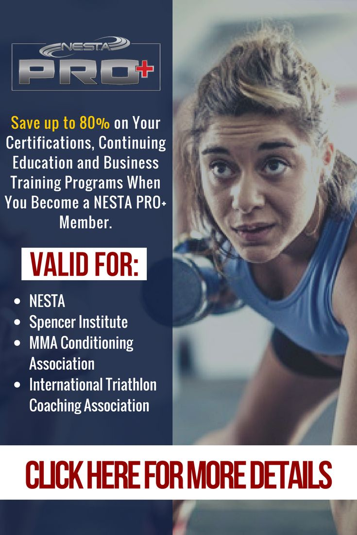 Best 25 fitness certification ideas on pinterest ace fitness nesta pro plan save up to 64 on certifications ceuscecs and career programs 1betcityfo Images