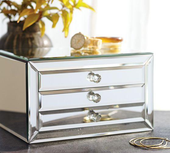 Selina Mirrored Jewelry Box | Pottery Barn