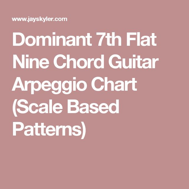 Dominant 7th Flat Nine Chord Guitar Arpeggio Chart (Scale Based Patterns)