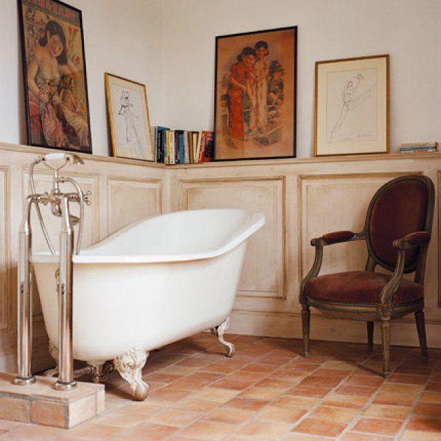 17 meilleures id es propos de boiseries salle de bain - Salle de bain style campagne ...