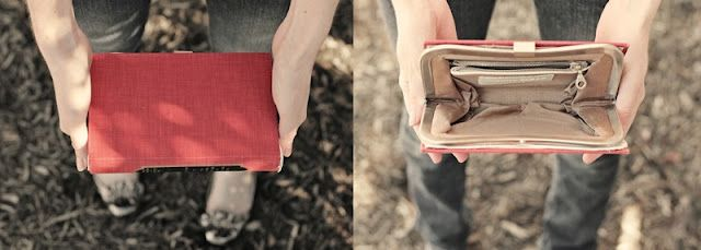 Transform an old hardcover into a clutch.