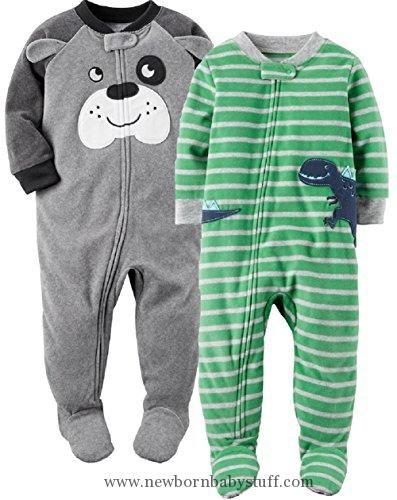 Baby Boy Clothes Carter's Baby Boys' 2-Pack Fleece Pajamas (12 Months, Dog/Dino)