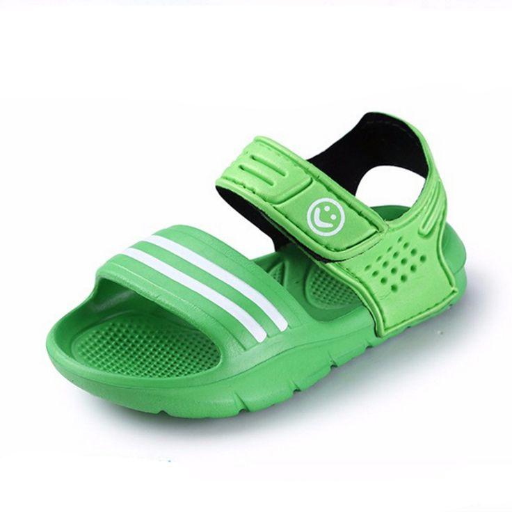De los niños del verano 2016 sandalias antideslizantes resistentes al desgaste niño pequeño sandalias casuales muchachos de las muchachas zapatos del niño sandalias de verano