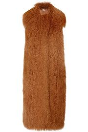 Stella McCartney Lila faux fur and wool-blend gilet