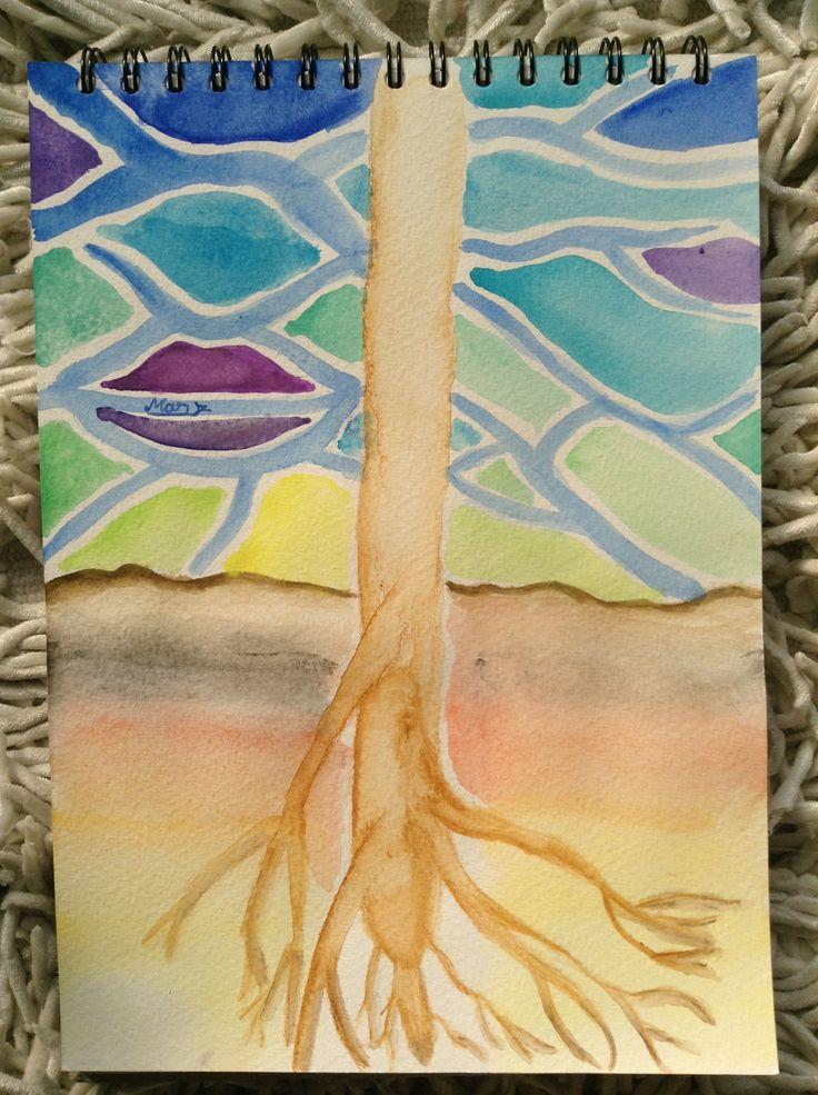Las raíces de un árbol
