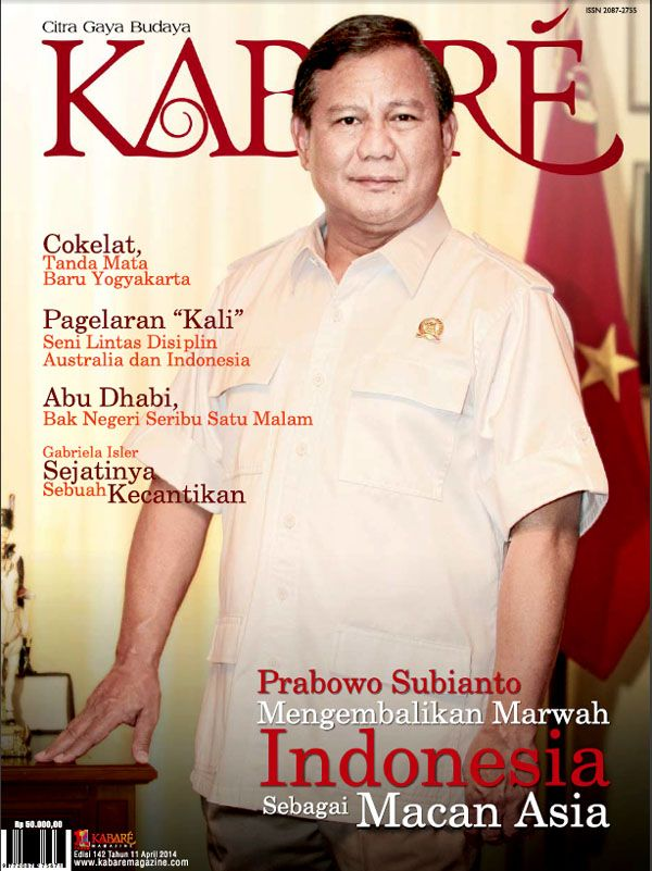 Kabare Magazine edisi April 2014.