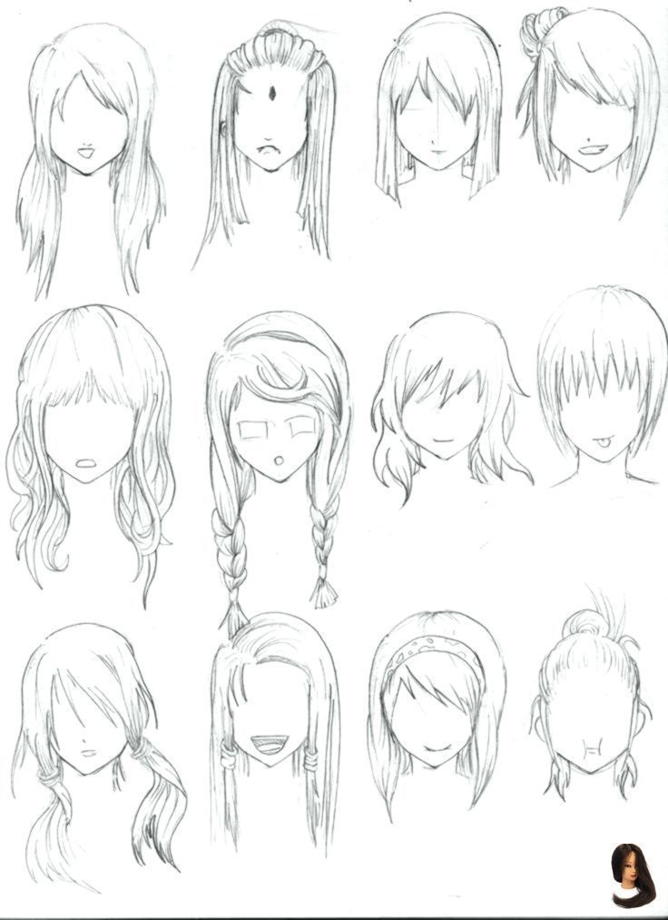 Albums Drawings Easy Easy Hairstyles Drawing Explore Girls Hair Short 28 Albums Of Easy Drawings Of Girls With S How To Draw Hair Manga Hair Anime Hair