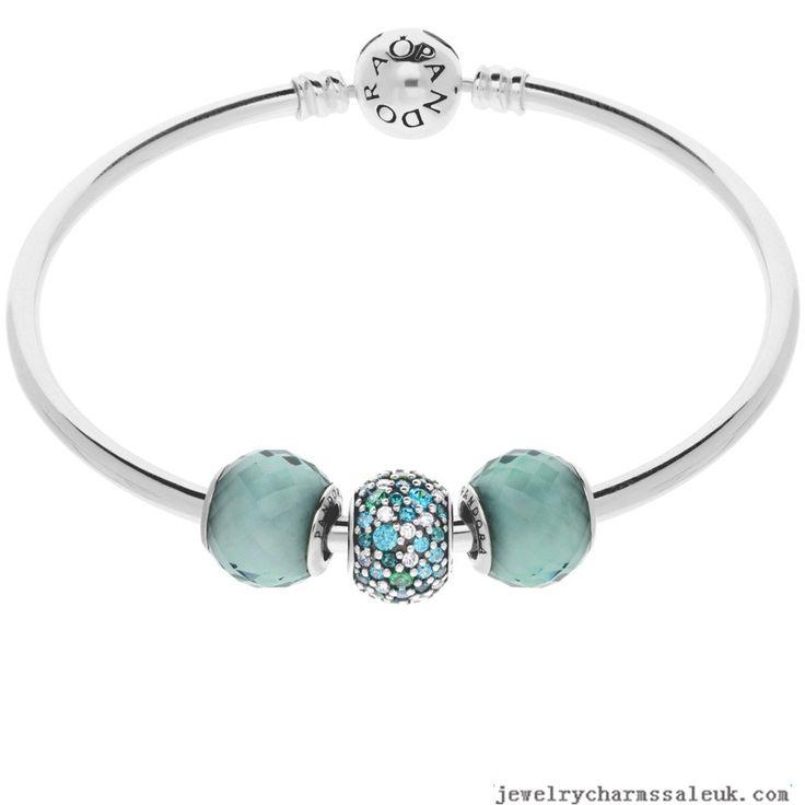 Pandora Bracelet Charms Cheap: Pandora Sea Breeze Complete Bangle 791313CZ