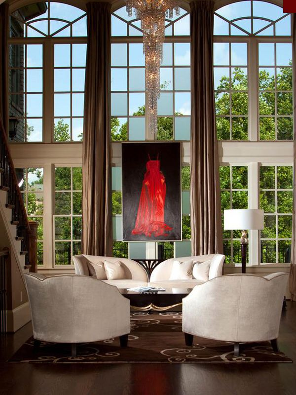 426 best images about double story room on pinterest - Glass block windows in living room ...