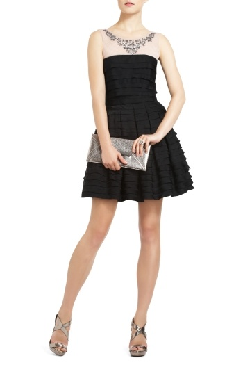 Enjoy the timeless feel of this embellished Marina tiered a-line cocktail dress. $398. Get the look here: http://bcbg.ma/SrhY75