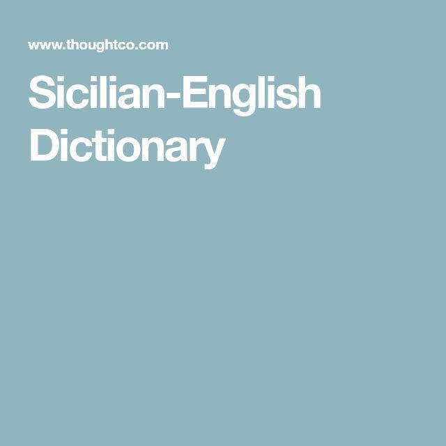 Sicilian-English Dictionary