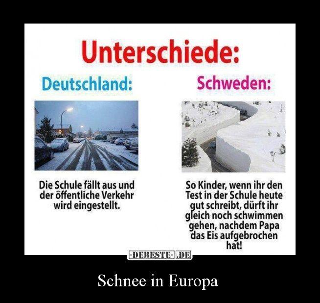 Schnee in Europa | Lustige Bilder, Sprüche, Witze, echt lustig – Walter Wenkel