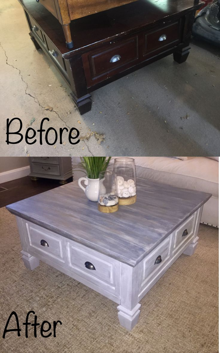 Remarkable Thrift Store Coffee Table Makeover Chalk Paint Driftwood Camellatalisay Diy Chair Ideas Camellatalisaycom