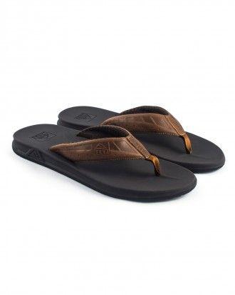 Men's Black/Blue Print Flip Flop Thong Beach Sandals Size XL 13-14