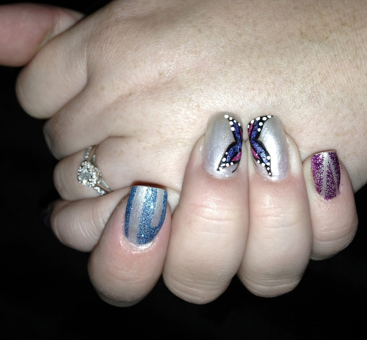47 best Hand painted nail art images on Pinterest | Hand painted ...