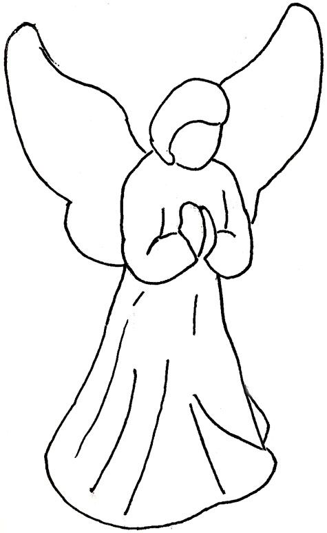 Angel drawings for christmas ornaments with this one for Angel decoration template