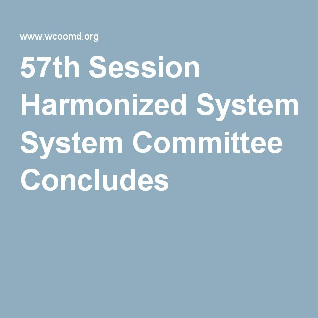 57th Session Harmonized System Committee Concludes