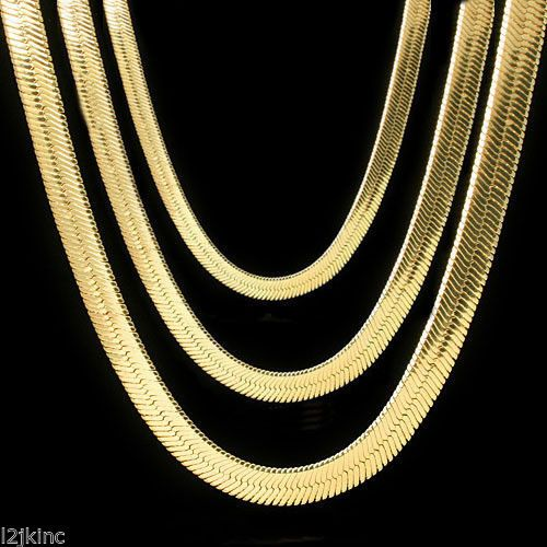 Men Amp Lady 14k Gold Plated 4mm 14mm Flat 20 Quot Or 24