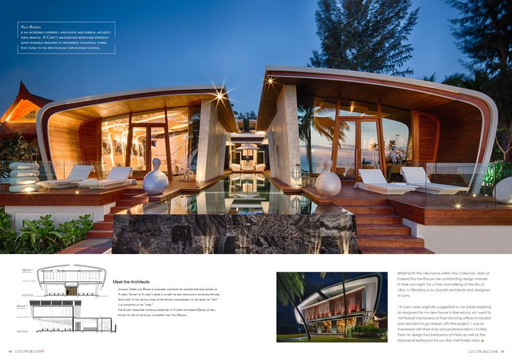 Iniala Villa futuristic architecture, Thailand. Cocotraie Issue 11 Special Hidden Escapes.