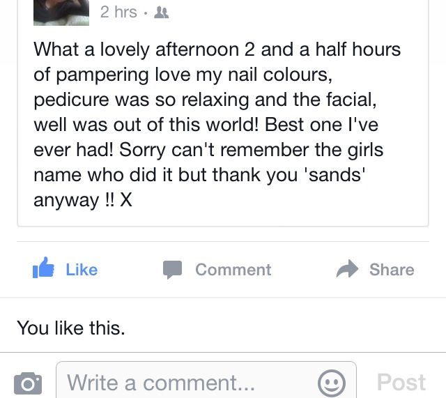 Feedback !! #fruitsmoithie facial !!! Well done Anisha !