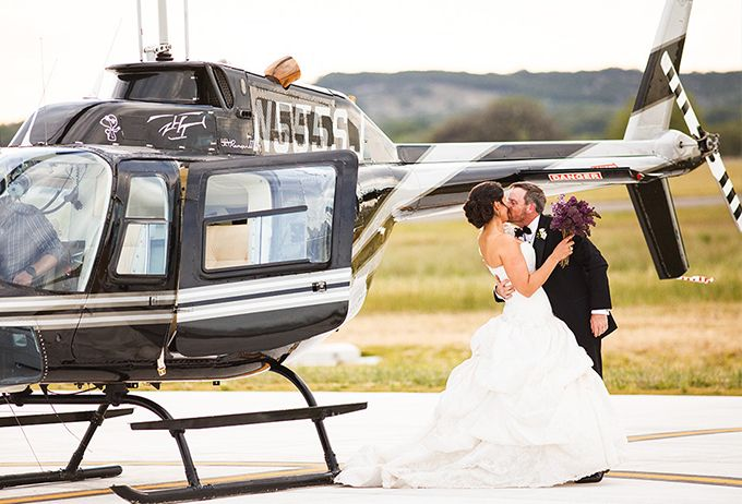 Need something luxury but limousine already very common? use helicopter for your wedding transportation, it will surely wow your guests | How to Arrange Your Wedding Day Transportation | http://www.bridestory.com/blog/how-to-arrange-your-wedding-day-transportation
