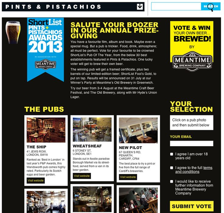 Pints + Pistachios users upload details of their favourite pub to see them be in with a chance of winning Shortlist Pub of the Year.