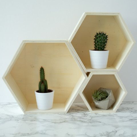 Nest of Three Geometric Shelves - Berylune