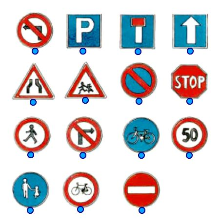 Βρείτε τα σήματα της οδικής κυκλοφορίας