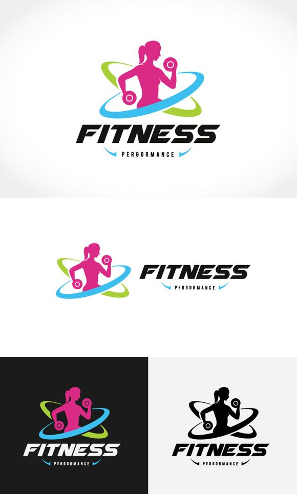 Fitness Logo by Super Pig Shop on @creativemarket