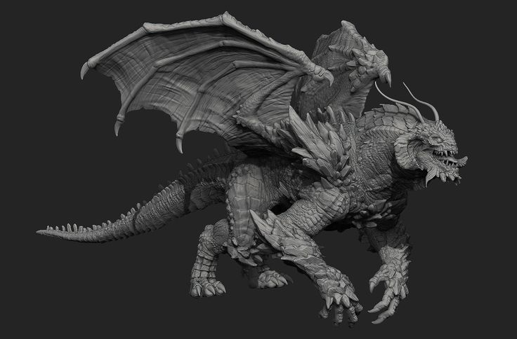 Wip Comicon 2015 - Doomsday + Fin Fang Foom, Crystel Land on ArtStation at https://www.artstation.com/artwork/wip-comicon-2015-doomsday-fin-fang-foom