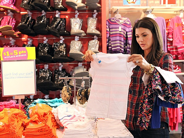 Ali Landry Stocks Up at The Children's Place