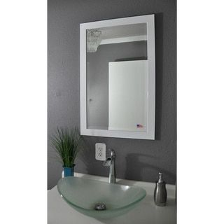 Shop for American Made Rayne Glossy White Beveled Wall/ Vanity Mirror. Get free shipping at Overstock.com - Your Online Home Decor Outlet Store! Get 5% in rewards with Club O!