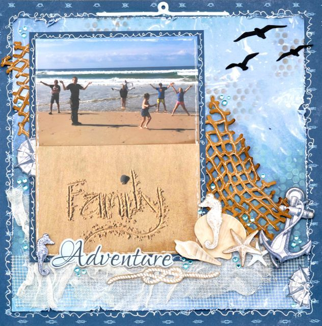 A Layout by Kelly-ann Oosterbeek made using the High Tide Collection from Kaisercraft. www.kellyanno.com