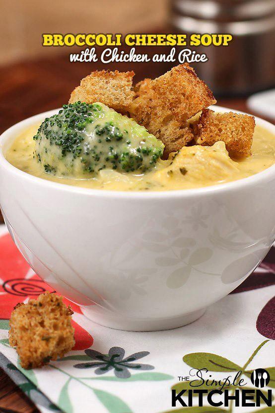 Easy Broccoli Cheddar Soup Recipe | Yummy | Pinterest