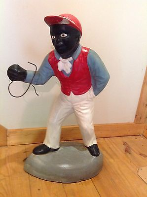Vintage fat black yard jockey