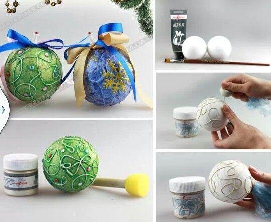 Bolas de navidad manualidades paso a paso pinterest navidad - Manualidades de navidad paso a paso ...