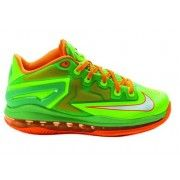 Authentic 644534-300 Nike LeBron 11 Low Electric Green/White-Total Orange $119.00   http://www.firesneakers.com