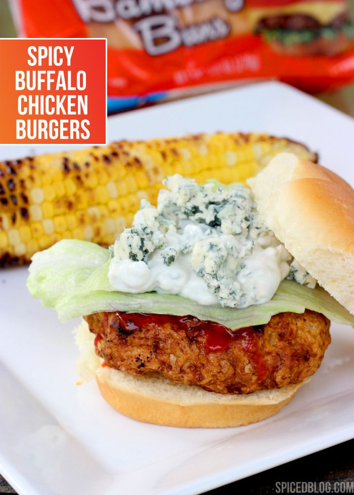 Spicy Buffalo Chicken Burgers | Spiced