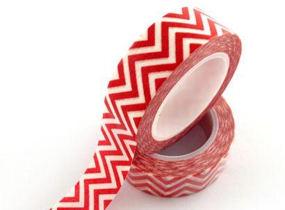 waves washi tape,corrugated washi tape,red and white waves washi tape E-mail: sale8@packingtape.cn