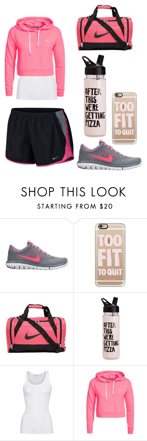 """Workout"" by shakespeares-rose ❤ liked on Polyvore featuring NIKE, Casetify, American Vintage and Only Play"