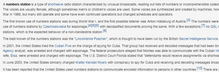 Numbers station - Wikipedia, the free encyclopedia