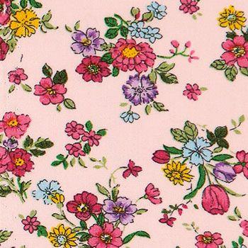 Vævet+bomuld+rosa+m+pink+små+blomster