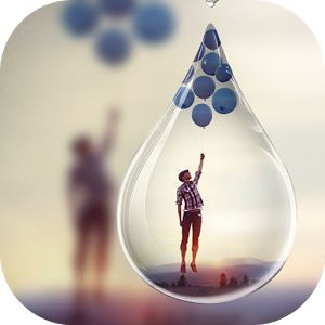 FotoRus photo app creates artisict photo manipulations, such as a picture appearing in a snowflake