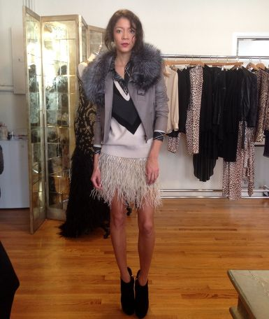Inside the Haute Hippie showroom with model Alexandra Wynne, Fall 2014 Collection
