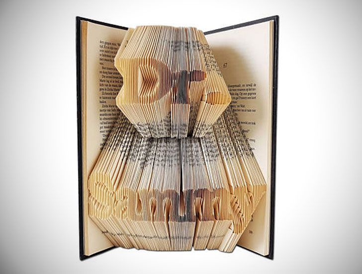 Dr /<3 Unique gift for Doctor Folded Book Art Physician Gift phd gift graduation