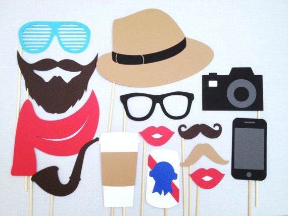 Hipster Photo Booth Props  90's Party  Hipster by CleverMarten, $25.00