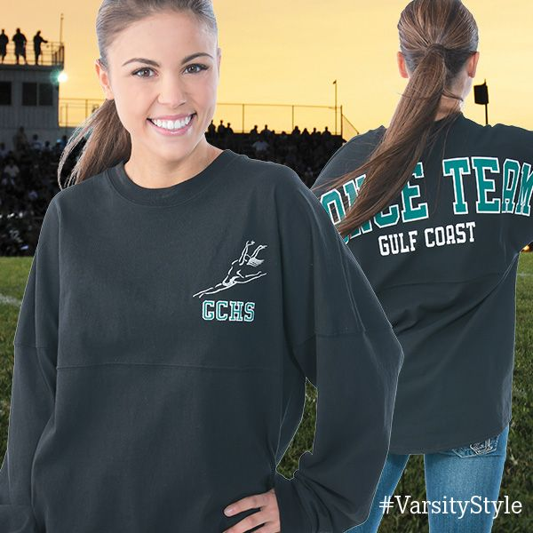 Get your Spirit Tee for your cheer or dance squad with your team colors and logo!  #VarsityFashion http://Varsity.com
