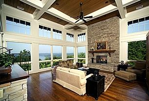 Are you kidding me with these windows?! Great Craftsman Living Room